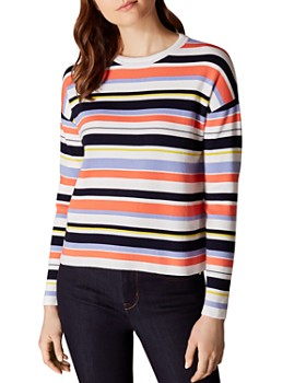 8a8d46e4efa963 KAREN MILLEN - Striped Drop-Shoulder Sweater ...