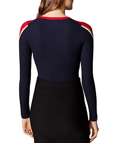 KAREN MILLEN - Color-Block Crewneck Sweater - 100% Exclusive