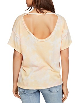 Free People - All Mine Cutout Tie-Dye Tee