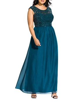 City Chic Plus - Sweet Love Sequined Gown