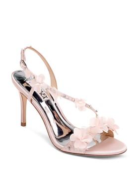 60824ab2a5 Badgley Mischka - Women's Irene Flower-Embellished High-Heel Sandals ...