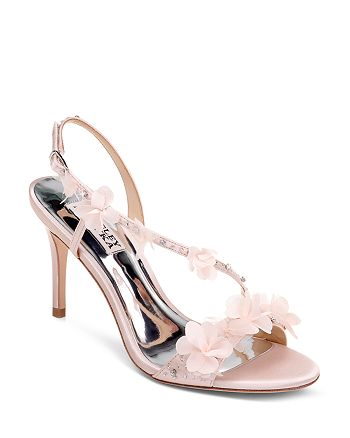 Badgley Mischka - Women's Irene Flower-Embellished High-Heel Sandals