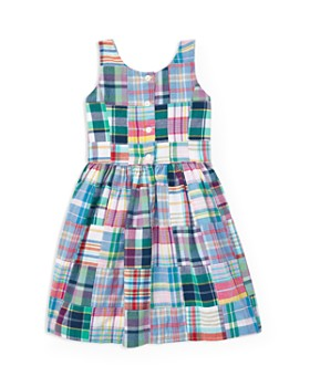 72721543f Ralph Lauren - Girls  Patchwork Madras Dress - Little Kid ...