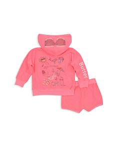 Butter - Girls' Summer Graphics Hoodie & Shorts Set - Little Kid