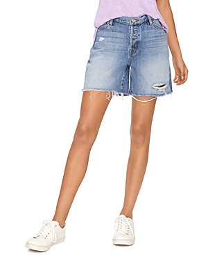 Sanctuary Shorts BANDIT DISTRESSED DENIM SHORTS IN OCEANSIDE BLUE