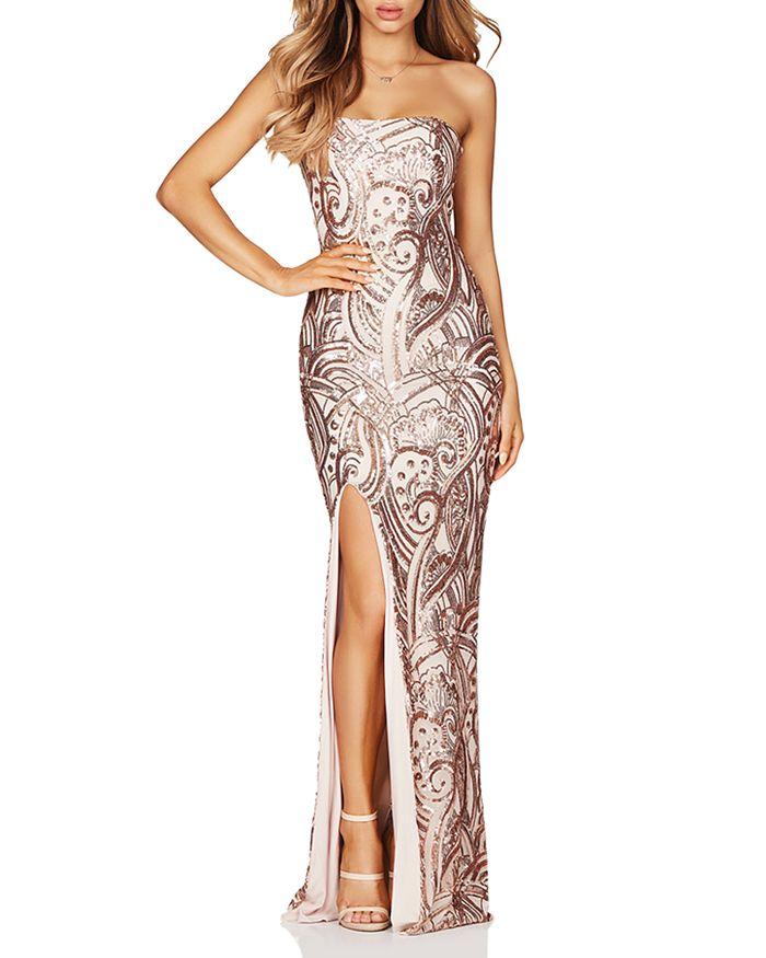 Nookie - Sensation Sequined Strapless Gown