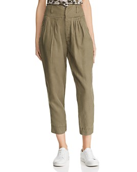FRAME - Pleated Tapered Pants