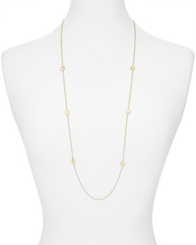 82c836284 ... Argento Vivo - Long Hammered Disc Station Necklace in 14K Gold-Plated  Sterling Silver,