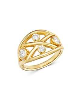 Roberto Coin - 18K Gold Diamond Baci Ring
