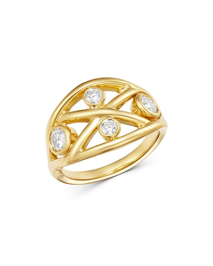 Roberto Coin - 18K Yellow Gold Diamond Baci Ring