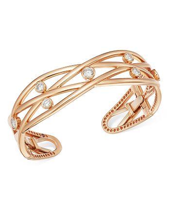 Roberto Coin - 18K Rose Gold Baci Diamond Bangle Bracelet