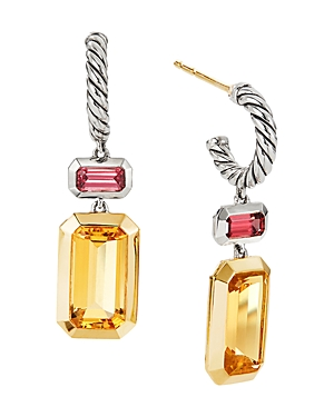 David Yurman Accessories STERLING SILVER NOVELLA DROP EARRINGS WITH CITRINE & 18K YELLOW GOLD