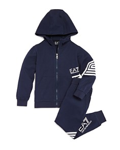 Armani - Boys' EA Striped Tracksuit - Little Kid, Big Kid