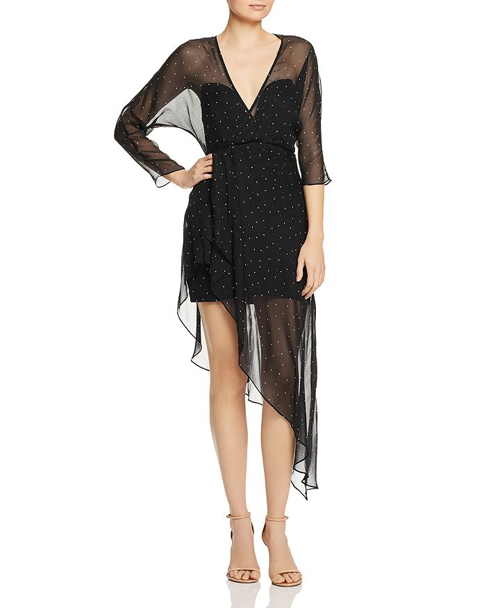 Michelle Mason - Silk Illusion-Hem Dress