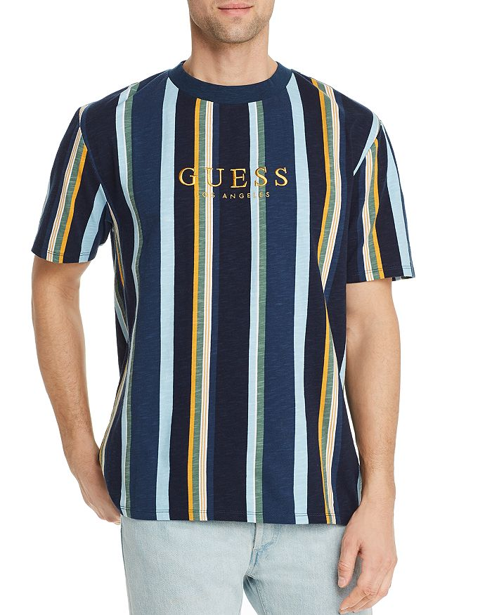 bf3a8fec3a GUESS Go Sayer Striped Tee | Bloomingdale's