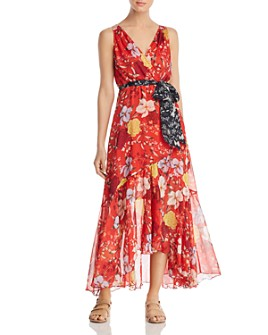Johnny Was - Nidra Silk Floral Wrap Dress