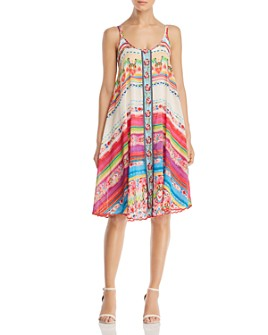 Johnny Was - Taleah Ribbon-Trim Tent Dress