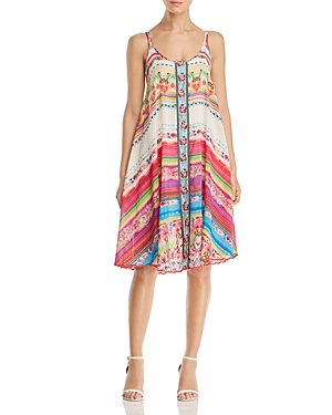 Johnny Was Dresses TALEAH RIBBON-TRIM TENT DRESS