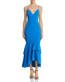 AQUA - Tiered-Flounce Hem Dress - 100% Exclusive