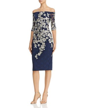 AVERY G | Avery G Embroidered-Lace Midi Dress | Goxip