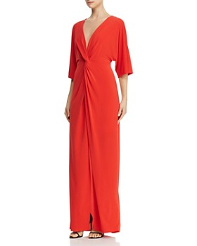 Laundry by Shelli Segal - Twist-Front Kimono-Sleeve Gown