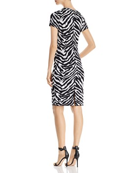 St. John - Zebra Jacquard Sheath Dress