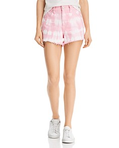 BLANKNYC - Tie-Dye Denim Shorts in Bubble Pink