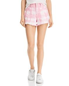 BLANKNYC - Tie-Dye Denim Shorts in Bubble Pink