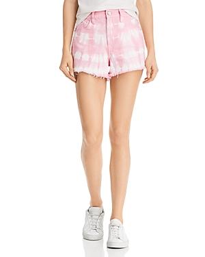 Blanknyc Tie-Dye Denim Shorts in Bubble Pink