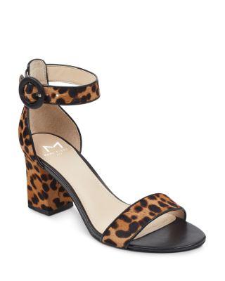 leopard print sandals block heel