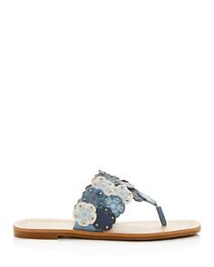 COACH - Women's Lottie Floral Thong Sandals