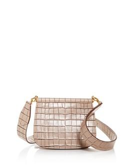 Max Mara - Anita Croc-Embossed Leather Shoulder Bag
