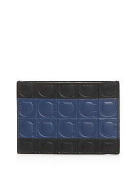 Salvatore Ferragamo - Firenze Gamma Stripe Leather Card Case