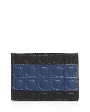 Salvatore Ferragamo - Firenze Gamma Stripe Leather Card Case