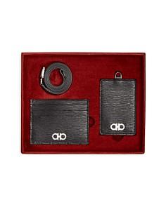 Salvatore Ferragamo - Men's Revival Gancio Leather Lanyard & Card Case Gift Set