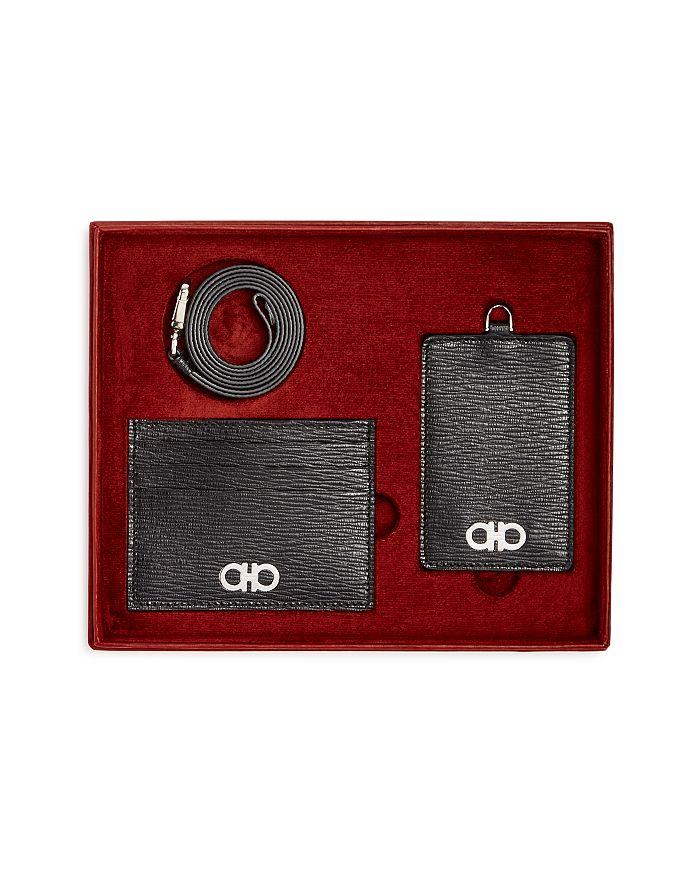 396deb8f86b Salvatore Ferragamo - Men s Revival Gancio Leather Lanyard   Card Case Gift  Set