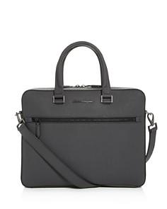 Salvatore Ferragamo - Revival 3.0 Coated Leather Slim Briefcase