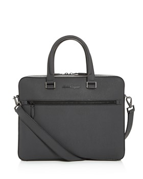 Salvatore Ferragamo - Revival 3.0 Coated Leather Slim Briefcase