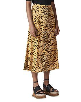Whistles - Cheetah Print Midi Skirt