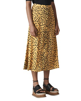 Whistles - Cheetah Print Midi Skirt