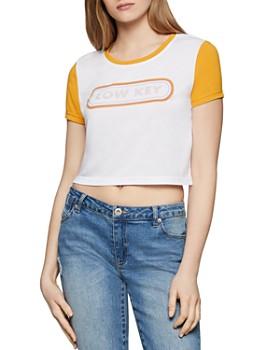 BCBGENERATION - Low Key Cropped Tee
