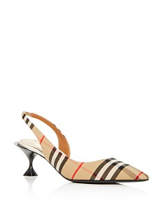 Burberry - Women's Leticia Vintage Check Kitten-Heel Pumps