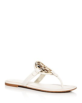 Tory Burch - Women's Metal Miller Leather Thong Sandals