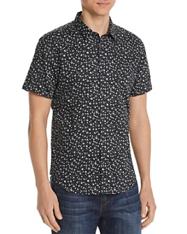 John Varvatos Star USA - Short-Sleeve Floral-Print Slim Fit Shirt - 100% Exclusive