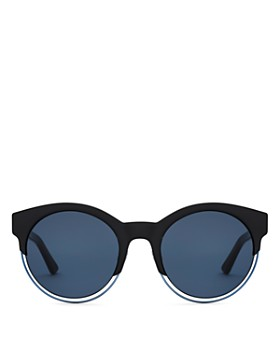 Dior - Women's Sideral 1 Mirrored Round Sunglasses, 53mm