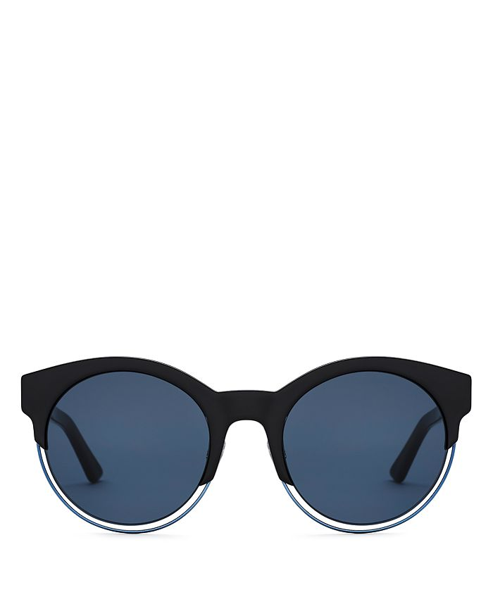 Dior - Women's Sideral 1 Mirrored Round Sunglasses, 53mm