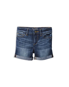 DL1961 - Girls' Piper Cuffed Denim Shorts - Little Kid