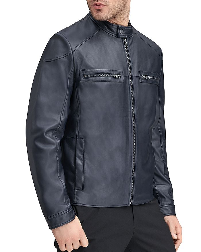 Andrew Marc - Wendell Leather Racer Jacket
