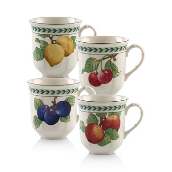 Villeroy & Boch - French Garden Modern Fruit Jumbo Mugs, Set of 4