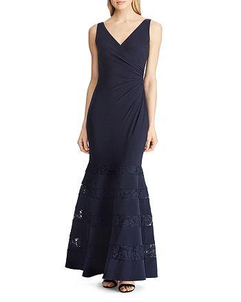 Ralph Lauren - Lace-Inset Gown